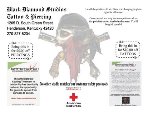 Black Diamond Tattoo Henderson Ky | black diamond studios tattoo piercing special offer