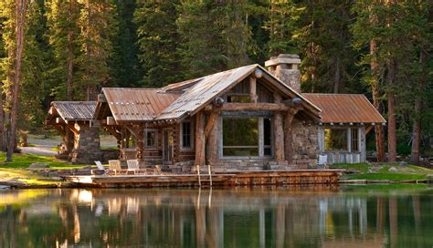 Log Cabin Big Sky Montana Utt Erly Cabins On 61 Pins