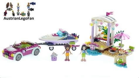 lego friends speedboat lego friends 41316 andrea 180 s speedboat transporter lego