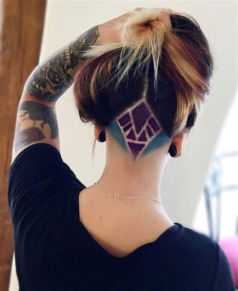 triangle with slight graduation with shaved head 30 stunning undercut hair designs you will love fashion