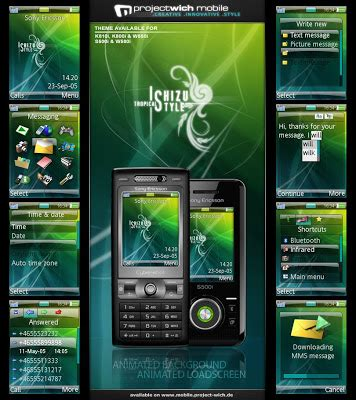 themes skk mobile theme styles free ishizu style tropical theme for sony