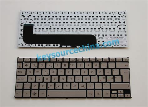 Keyboard Asus Ux21 0knb0 1100nd00 asus ux21 nordic keyboard silver asus nordic laptop keyboards nordic laptop keyboards