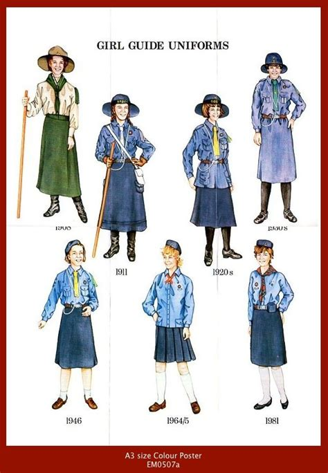 girl guide themes girl guide uniforms from 1908 1989 uk girl guide ideas
