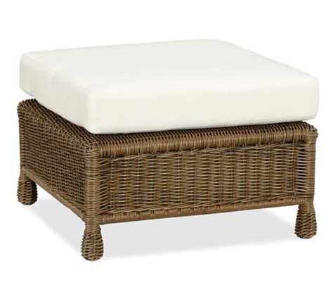 All Weather Wicker Ottoman Saybrook All Weather Wicker Ottoman Pottery Barn