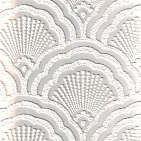 shell patterned blown vinyl fine decor supatex shell pure white textured paintable