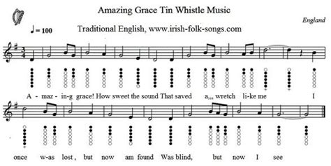 row row your boat tin whistle amazing grace sheet music easy version tunes tin