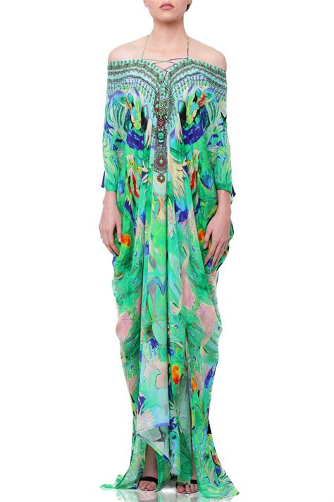 Drawstring Kaftan Mint designer kaftan dress kaftan maxi dresses lace up