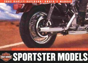 harley davidson sportster owners manual xlh xl