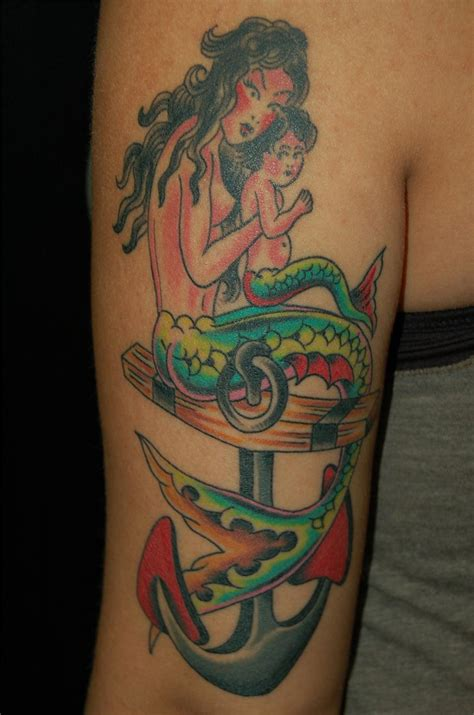 mermaid anchor tattoo mermaid tattoos designs ideas and meaning tattoos for you