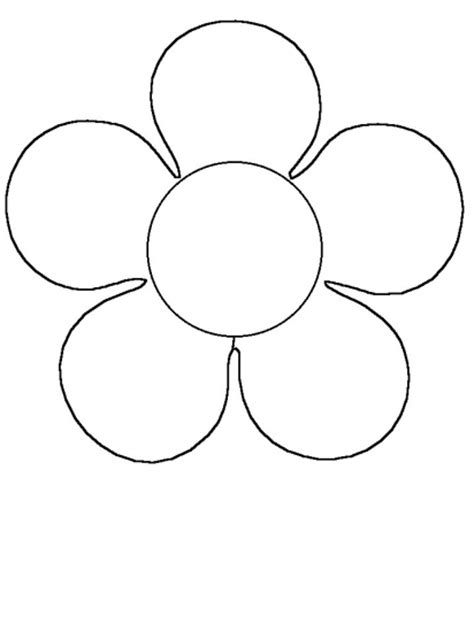 clipart of flowers coloring pages simple flower coloring pages clipart best