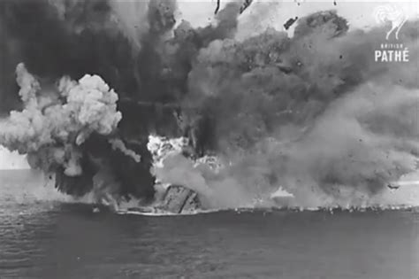 Hms Barham Sinking by Hms Barham Explosion While Sinking To The Sea In