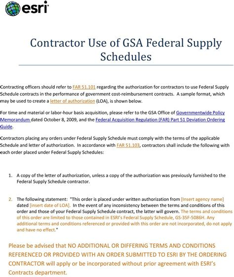 Gsa Contract Letter Of Supply Contractor Use Of Gsa Federal Supply Schedules Pdf