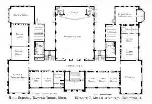 high school floor plan first floor plan knowlton school digital library