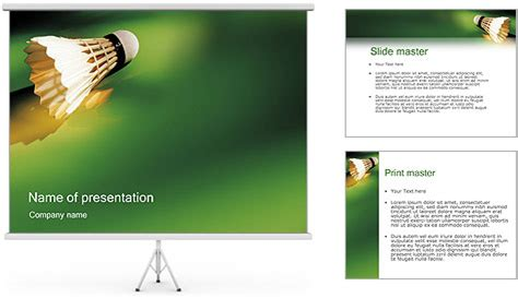 Badminton Powerpoint Template Backgrounds Id 0000000067 Badminton Ppt Templates Free