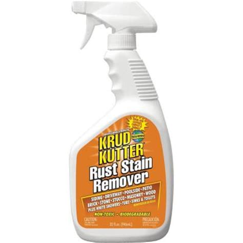 bathtub rust stain remover krud kutter 32 oz rust stain remover rs32 6 the home depot
