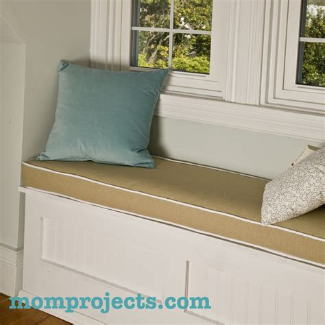 how to make a seat cushion for a bench window seat cushion mom projects