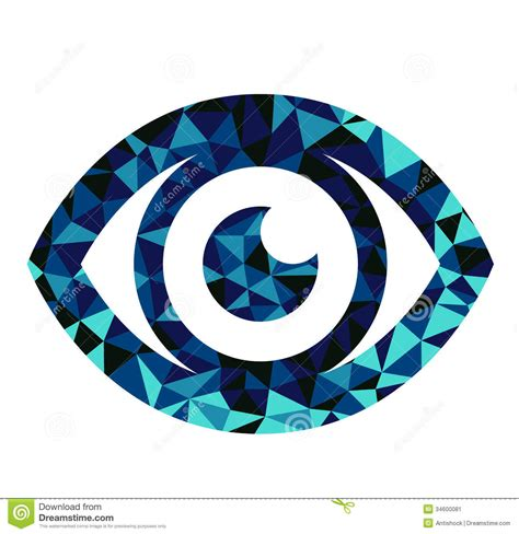 triangle eye pattern blue eye triangle pattern design stock vector image