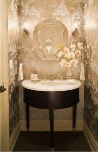 Powder Room With Shower Glamorous Powder Rooms Transitional Bathroom