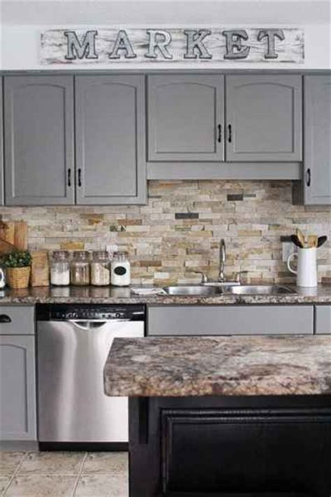 kitchen cabinets grey color gray kitchen cabinets white subway tile backsplash and