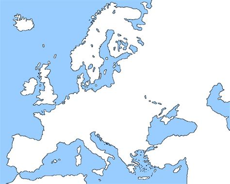 map of europe no borders pictures to pin on