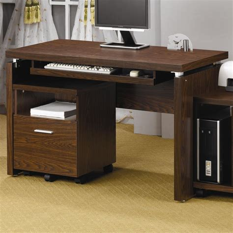 coaster laptop stand with casters value city furniture coaster home office computer desk 800831 winner