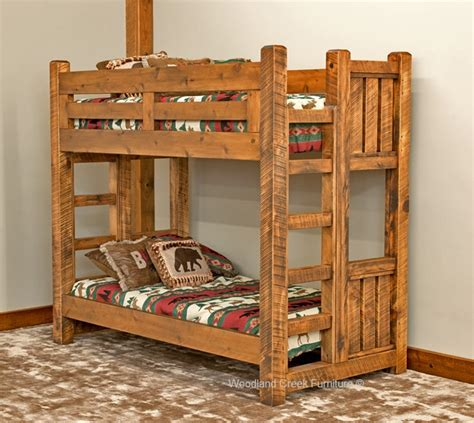 furniture bunk bed solid wood bunk bed barn wood bunk bed rustic bunk bed