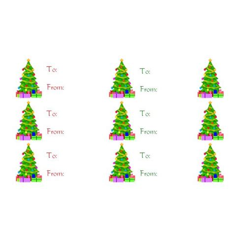 printable gift tags microsoft word 6 best images of christmas tree gift tag template