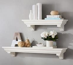 hayden pedestal shelf ledge u0026 hook decorative wall shelves for babies pottery barn