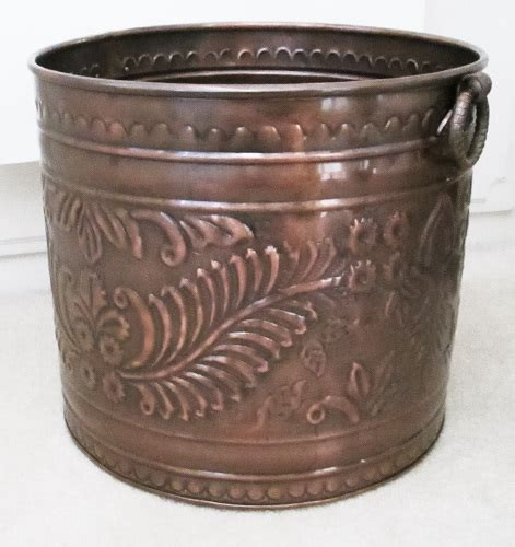 Large Copper Planter Embossed Large Copper Planters