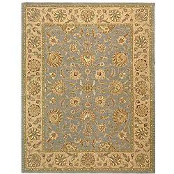 costco area rugs 8x10 safavieh handmade heritage kerman blue beige wool rug 9 6 x 13 6
