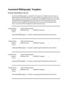 free apa bibliography template best photos of national history day annotated bibliography