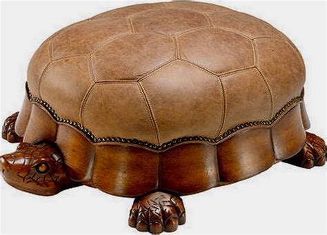 What A Chair - tortoise foot stool leather design pouf ottoman