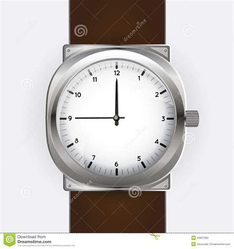 clock analog watches stock vector illustration  analog