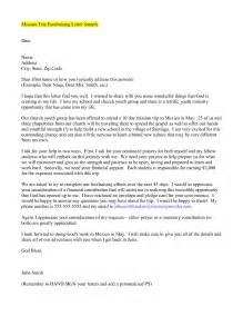 Mission Trip Support Letter Crna Cover Letter