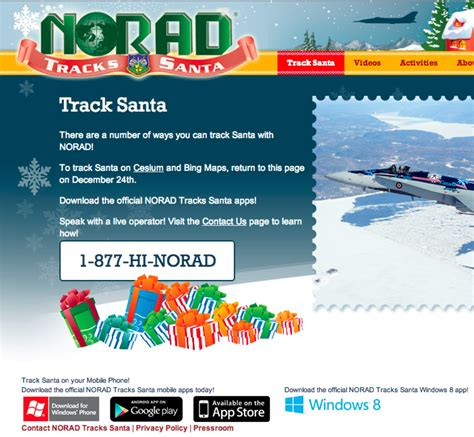 Santa Tracker Phone Number The 2012 Santa Tracker Review From Norad To From