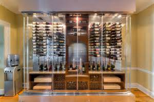 Accent Cabinet With Glass Doors 2013 S Top 5 Custom Wine Cellars On Houzz Building Wine
