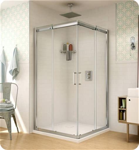 fleurco stc banyo shuttle square  semi frameless corner entry sliding doors