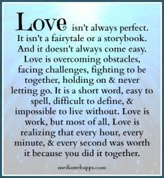 love isn t always perfect but this definitely defines