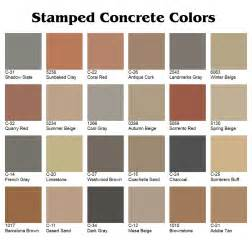 davis concrete color chart sted color restoration kote decorative