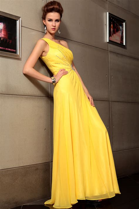 chiffon gown yellow yellow gown dressed up