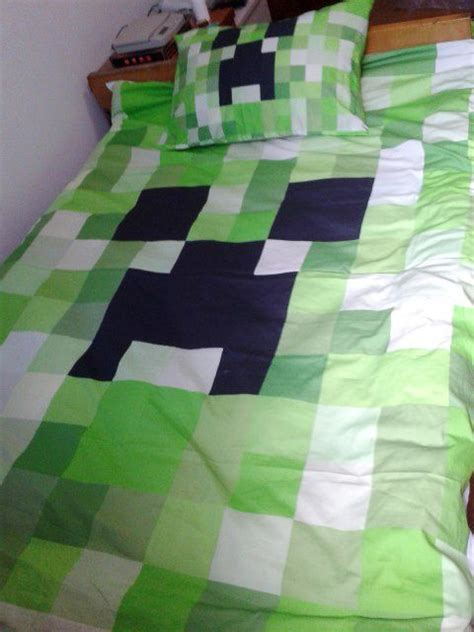 Minecraft Bed Sets Minecraft Bed Set Kawaii Creeper Cotton Single Bed Set 2pcs Set Pillowcase Quilt