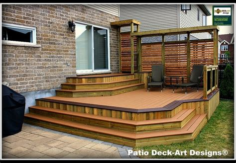 Patio Decks Designs Pictures Patio Deck Designs Outdoor Living Contemporary Deck Montreal By Patio Deck