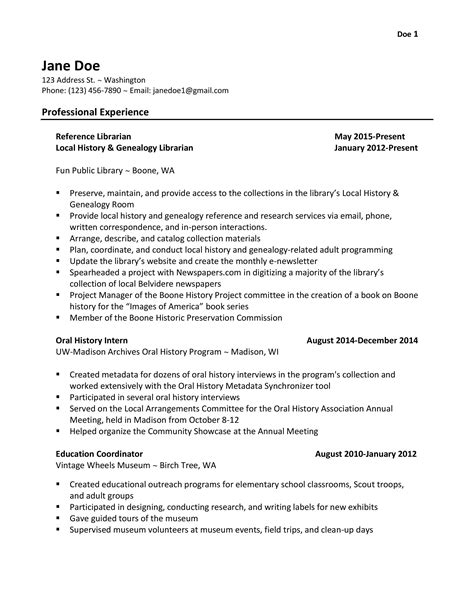 Librarian Resume by Library Resume Hiring Librarians