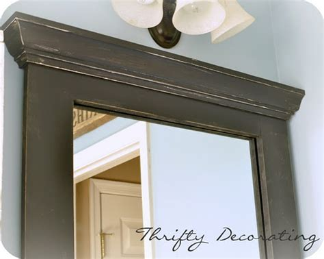 framing bathroom mirrors with crown molding diy bathroom mirror frame bathroom pinterest