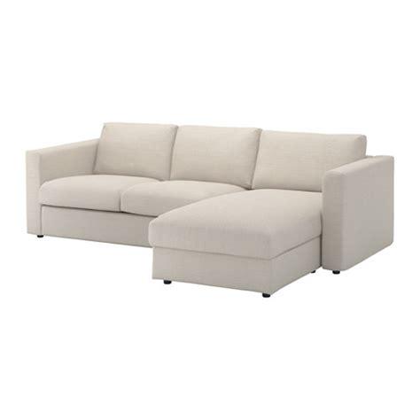 ikea divani vimle divano a 3 posti con chaise longue gunnared beige
