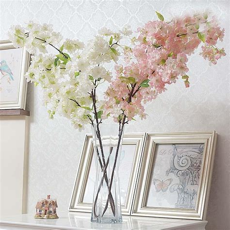cherry decorations for home decorative flowers 10pc cherry blossoms fake flower for