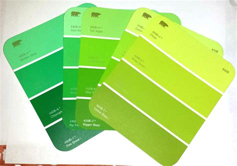 green paint swatches cheap paint sle christmas tree ornament craft for kids