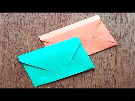 easy way to make paper envelope origami diy origami