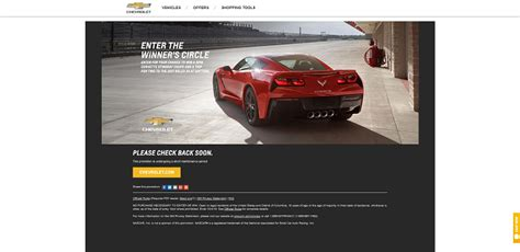 Win A Corvette Sweepstakes - register to win hgtv html autos weblog