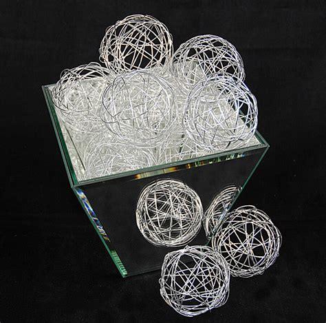 Silver Decorative Balls 12 silver wire decorative balls 2 5in set of 12